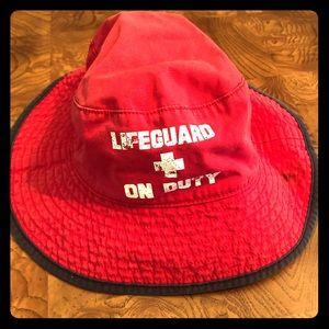 Gymboree life guard on duty bucket swim hat